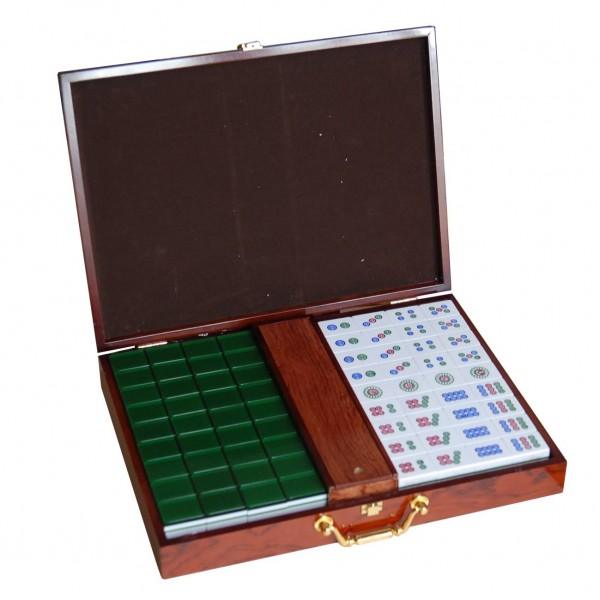 Buy Mahjong Green Xxl Pro Mahjong Set Aobo Store
