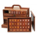 Deluxe Red Palisander Mahjong Set